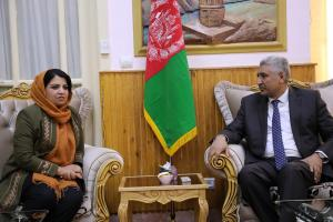 H.E Ms. Kamila Sidiqi meets with with H.E Mr. Rahimi Governor of Herat Province for identifying business challanges on 28th Nov 2017