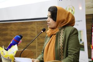 H.E. Ms. Kamila Sidiqi at the Conference for Identifying Business Challanges in Herat on 28th Nov. 2017, 1