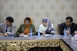 H.E. Ms. Kamila Sidiqi interacting with senior government officials in Herat on 28th Nov 2017