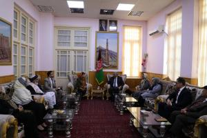 H.E. Ms. Kamila Sidiqi with senior goverenment officials in Herat Province on 28th Nov 2017