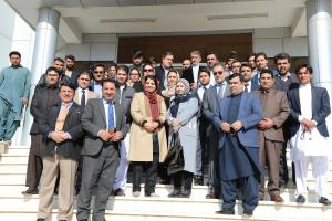 H.E. Ms. Kamila Sidiqi with senior government representatives in Herat Province on 29 Nov 2017