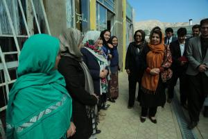 Her Excellency Ms. Kamila Sidiqi meeting with women entrepreneurs in Bamyan Province on Oct 15, 2017